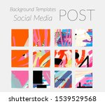 creative backgrounds for social ... | Shutterstock .eps vector #1539529568
