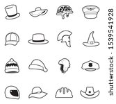hats icons. line with fill...   Shutterstock .eps vector #1539541928