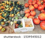 Colorful Pumpkins For Sale At...