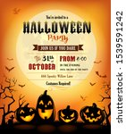 halloween party invitation with ... | Shutterstock .eps vector #1539591242