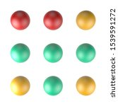 abstract colored balls 3d image | Shutterstock . vector #1539591272