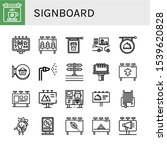 signboard icon set. collection... | Shutterstock .eps vector #1539620828