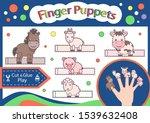 finger puppets. cut and glue...   Shutterstock .eps vector #1539632408