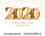vector text design 2020. gold... | Shutterstock .eps vector #1539638912