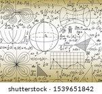 scientific math vector seamless ... | Shutterstock .eps vector #1539651842