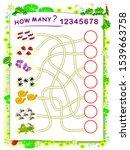 logic puzzle game for children... | Shutterstock .eps vector #1539663758