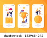 mobile app page  screen set.... | Shutterstock .eps vector #1539684242