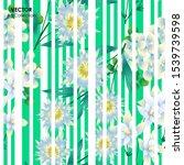 flower seamless pattern  vector ... | Shutterstock .eps vector #1539739598