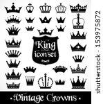 crowns vintage set. | Shutterstock .eps vector #153975872