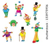 set of joker cartoon    vector... | Shutterstock .eps vector #153975956