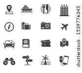 set of travelling related icon... | Shutterstock .eps vector #1539776345