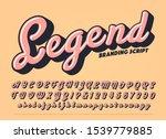 vector bold script alphabet.... | Shutterstock .eps vector #1539779885