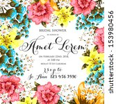 wedding invitation | Shutterstock .eps vector #153980456