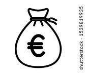 euro money bag icon design....