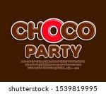 vector creative poster choco... | Shutterstock .eps vector #1539819995
