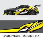 car wrap decal designs.... | Shutterstock .eps vector #1539823115