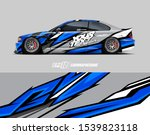 car wrap decal designs.... | Shutterstock .eps vector #1539823118