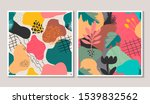 set of vector colorful collage...   Shutterstock .eps vector #1539832562