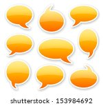 stickers of orange glossy... | Shutterstock . vector #153984692