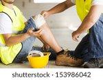 construction worker has an... | Shutterstock . vector #153986042