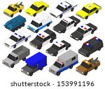 set of military vehicles. 3d  | Shutterstock . vector #153991196