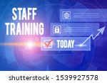 text sign showing staff... | Shutterstock . vector #1539927578