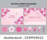 cherry blossom  sakura branch... | Shutterstock .eps vector #1539929612
