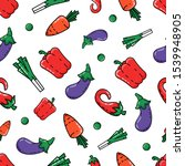 seamless pattern with colored... | Shutterstock .eps vector #1539948905