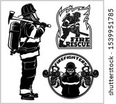 Fire Department Vector Set  ...