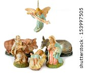 Small photo of Nativity scene. With clipping path
