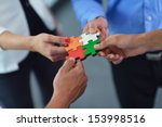 group of business people... | Shutterstock . vector #153998516