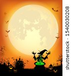 halloween background with a... | Shutterstock .eps vector #1540030208