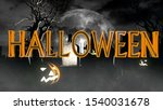halloween creepy 3d... | Shutterstock . vector #1540031678