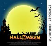 halloween background vector | Shutterstock .eps vector #154003628