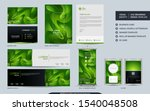 modern green stationery mock up ... | Shutterstock .eps vector #1540048508