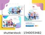 set of landing page design... | Shutterstock .eps vector #1540053482