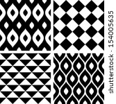 Seamless Patterns Black And...
