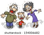 cartoon family with shocked...   Shutterstock .eps vector #154006682