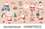 collection of happy santa... | Shutterstock .eps vector #1540070252