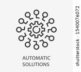 automated system line icon on... | Shutterstock .eps vector #1540076072