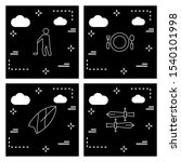 user interface icon set for web ... | Shutterstock . vector #1540101998