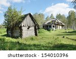 Small photo of Ruins of an abounded house in a village