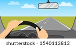 the driver is driving a car.... | Shutterstock .eps vector #1540113812
