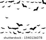 intimidating black bats swarm... | Shutterstock .eps vector #1540136078