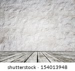 wood floor and concrete wall | Shutterstock . vector #154013948