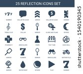 25 reflection icons. trendy... | Shutterstock .eps vector #1540190345