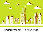 city background made of paper... | Shutterstock .eps vector #154020785