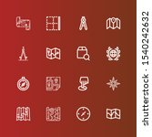editable 16 cartography icons... | Shutterstock .eps vector #1540242632