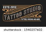 vintage logo template with... | Shutterstock .eps vector #1540257602