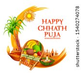 illustration of happy chhath... | Shutterstock .eps vector #1540274078